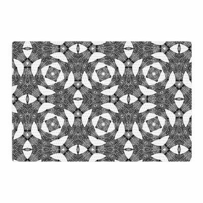 Laura Nicholson Twiggy Boxes Geometric Black Area Rug Rug Size: 4 x 6