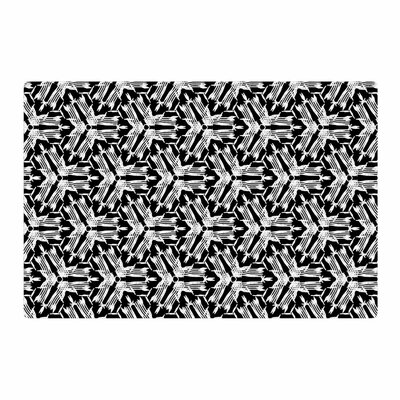 Laura Nicholson Y Knot Black/White Area Rug Rug Size: 2 x 3
