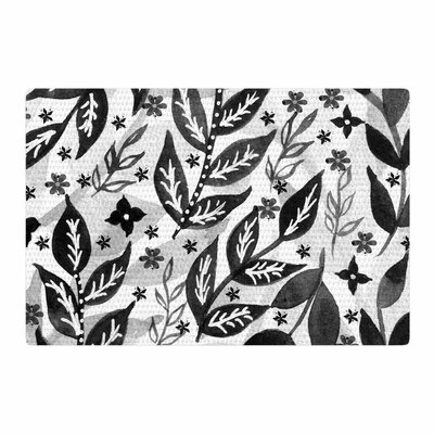 Li Zamperini Foliage Gray/White/Black Area Rug Rug Size: 4 x 6