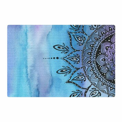 Li Zamperini Mandala Blue/Black Area Rug Rug Size: 4 x 6