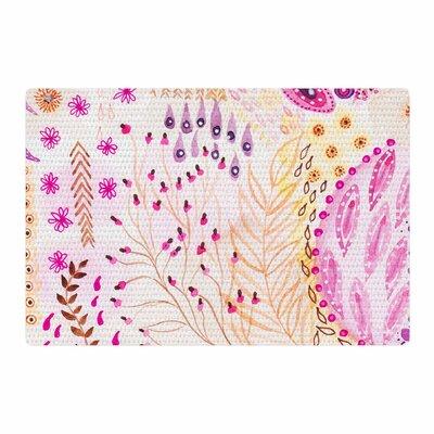 Li Zamperini Delicada Pink/Tan Area Rug Rug Size: 2 x 3