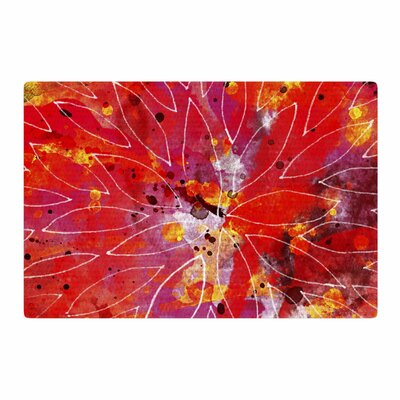 Li Zamperini Flame Red/Yellow Area Rug Rug Size: 4 x 6