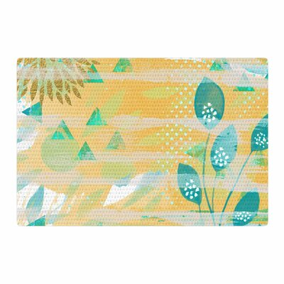 Li Zamperini Foliage Yellow/Green Area Rug Rug Size: 2 x 3