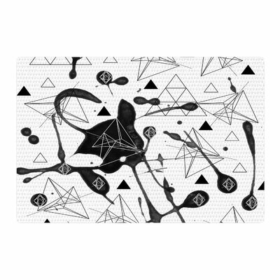 Li Zamperini Geometric Black/White Area Rug Rug Size: 4 x 6