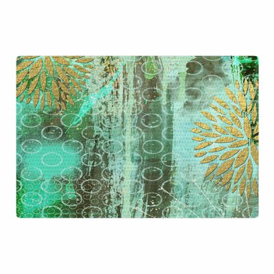 Li Zamperini Land Green/Gold Area Rug Rug Size: 2 x 3