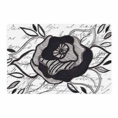 Li Zamperini Like a Rose Black/White Area Rug Rug Size: 2 x 3