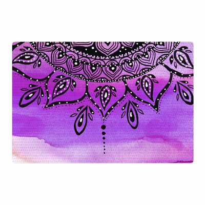 Li Zamperini Lilac Mandala Lavender/Purple Area Rug Rug Size: 4 x 6