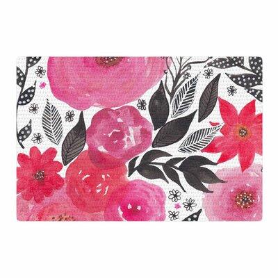 Li Zamperini Garden Rose Floral Pink Area Rug Rug Size: 2 x 3