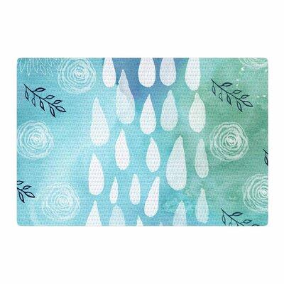 Li Zamperini Rain Blue/White Area Rug Rug Size: 4 x 6
