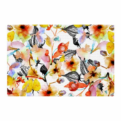 Liz Perez Blossoms Floral Area Rug Rug Size: 4 x 6