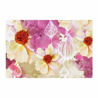 Liz Perez Sweet Florist Cream/Pink Area Rug Rug Size: 4 x 6