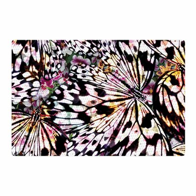Louise Machado Butterfly Wings Black/White Area Rug Rug Size: 4 x 6