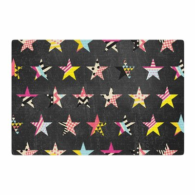 Louise Machado Dancing Stars Yellow/Gray Area Rug Rug Size: 2 x 3