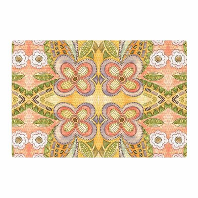 Louise Machado Ethnic Floral Illustration Green Area Rug Rug Size: 4 x 6