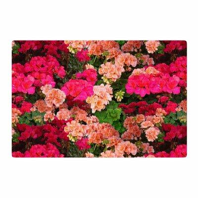 Louise Machado Geranios Floral Pink Area Rug Rug Size: 2 x 3