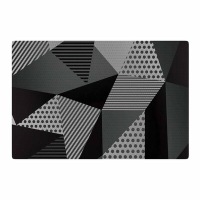Louise Machado Pallete Black/Gray Area Rug Rug Size: 2 x 3