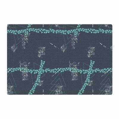 Love Midge Bold Triangle Geometric Digital Blue/Gray Area Rug Rug Size: 2' x 3'