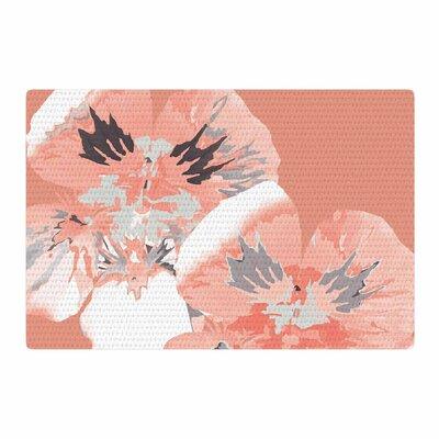 Love Midge Graphic Flower Nasturtium Coral Floral Pink Area Rug Rug Size: 2 x 3