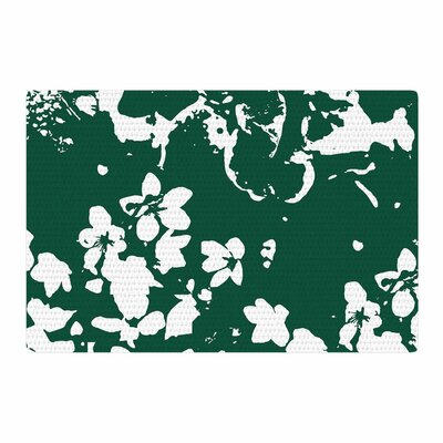 Love Midge Helena Floral Abstract Green/White Area Rug Rug Size: 2' x 3'