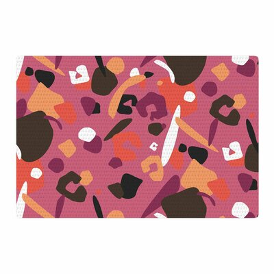 Luvprintz Abstract Leopard Brown/Pink Area Rug Rug Size: 4 x 6