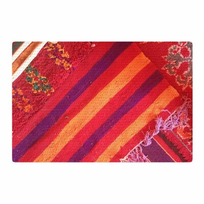 Luvprintz Carpet Red/Orange Area Rug Rug Size: 4' x 6'