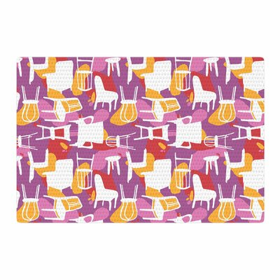 Luvprintz Chairs Purple/Red Area Rug Rug Size: 4' x 6'