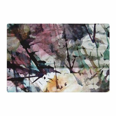 Malia Shields Abstract Trees Painting Black Area Rug Rug Size: 2 x 3