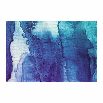 Malia Shields Blues Abstract Series 1 Green/Teal Area Rug Rug Size: 2 x 3