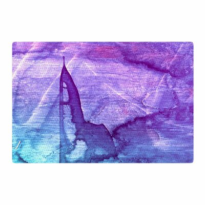 Malia Shields Blues Abstract Series 2 Purple/Aqua Area Rug Rug Size: 2 x 3