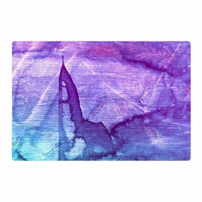Malia Shields Blues Abstract Series 2 Purple/Aqua Area Rug Rug Size: 4 x 6