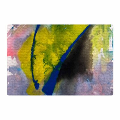 Malia Shields Exploration Yellow/Blue Area Rug Rug Size: 2 x 3