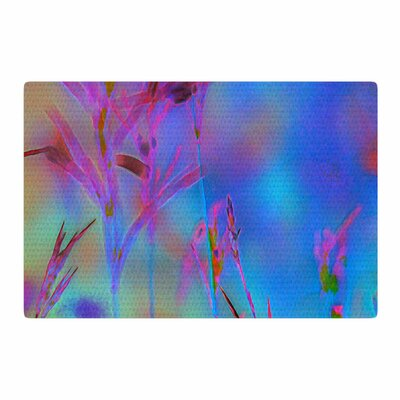 Malia Shields Painterly Foliage Series 2 Blue/Pink Area Rug Rug Size: 4 x 6