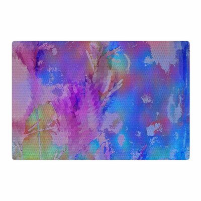 Malia Shields Painterly Foliage Series 3 Pink/Blue Area Rug Rug Size: 4 x 6