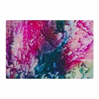 Malia Shields Splash Abstract Ink Magenta/Green Area Rug Rug Size: 2 x 3