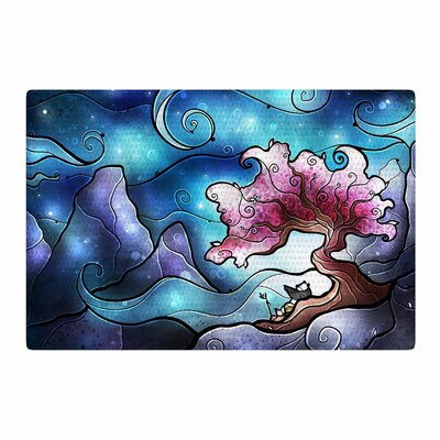 Mandie Manzano You Must Believe Blue/Purple Area Rug Rug Size: 2 x 3