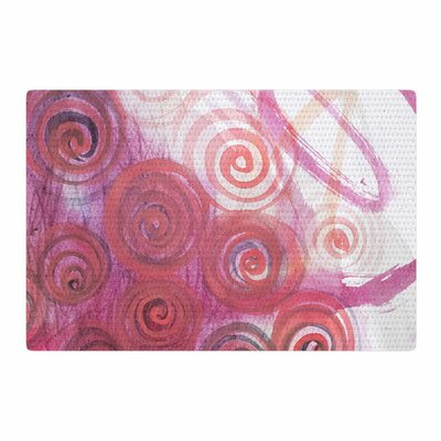 Maria Bazarova Abstractions Pink/Red Area Rug Rug Size: 4 x 6