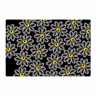 Maria Bazarova Chamomile Floral Yellow Area Rug Rug Size: 4 x 6
