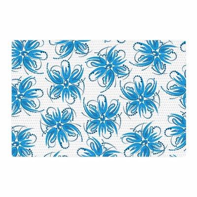 Maria Bazarova Flower Centaur 1 Blue Area Rug Rug Size: 4 x 6