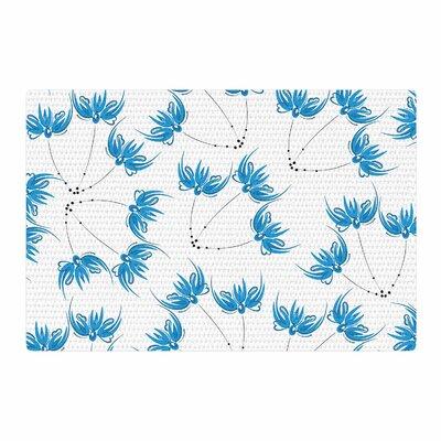 Maria Bazarova Flower Centaur 2 Digital Blue Area Rug Rug Size: 4 x 6