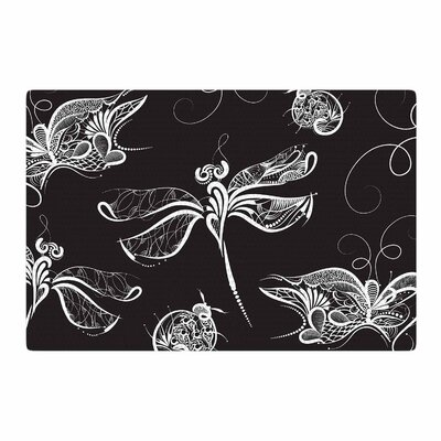 Maria Bazarova Insects Animals Black Area Rug Rug Size: 2 x 3