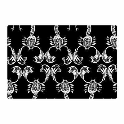 Maria Bazarova Scorpio Nature/Black Area Rug Rug Size: 2 x 3