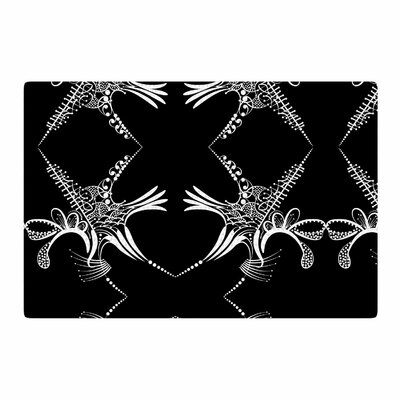 Maria Bazarova Snowflakes Illustration White Area Rug Rug Size: 2 x 3