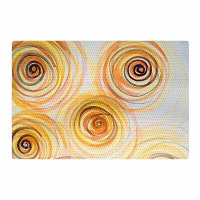 Maria Bazarova Spirals Yellow/Gold Area Rug Rug Size: 4 x 6