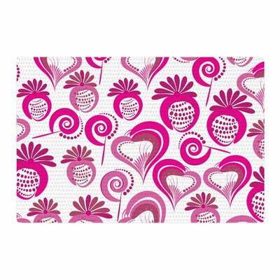 Maria Bazarova Sweet Love 2 Pink/White Area Rug Rug Size: 2 x 3