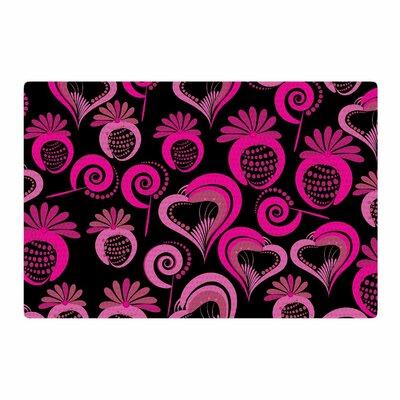 Maria Bazarova Sweet Love Pink/Black Area Rug Rug Size: 4 x 6