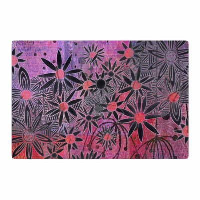 Marianna Tankelevich Flowers Pink/Purple/Black Area Rug Rug Size: 4 x 6