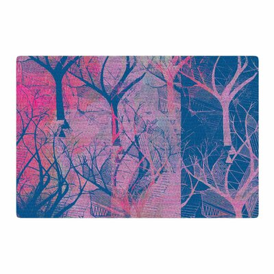 Marianna Tankelevich Fantasy Garden Pink/Blue Area Rug Rug Size: 2 x 3