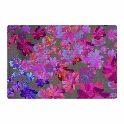 Marianna Tankelevich Flowers Pink/Blue/Purple Area Rug Rug Size: 4 x 6
