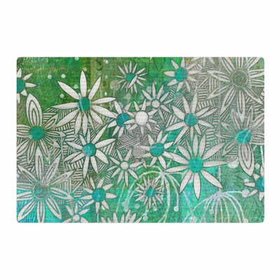 Marianna Tankelevich Spring Daisies Green/White Area Rug Rug Size: 2 x 3