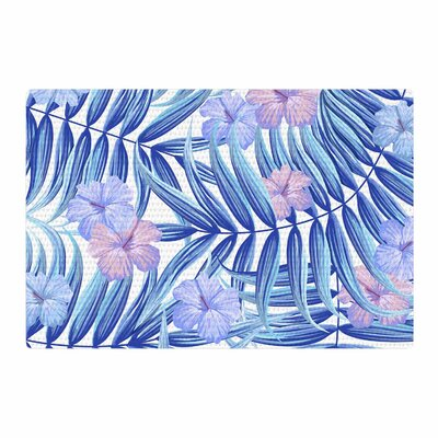 Marta Olga Klara Hawaiian Pattern Blue/Purple Area Rug Rug Size: 4 x 6